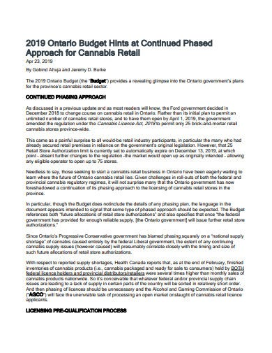cannabis retail budget template