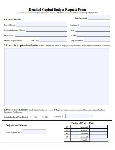 20  budget request form templates in pdf
