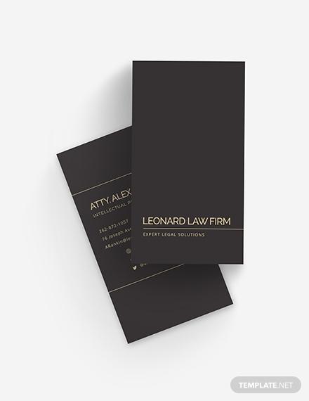chalkboard lawyer business card template