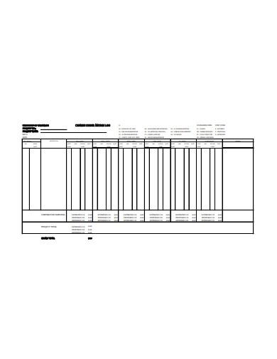 change order matrix log template