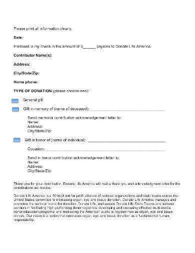 charity acknowledgment letter template