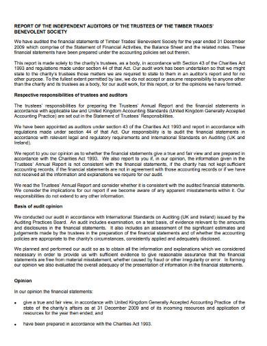 charity audit activities report1