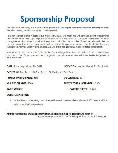 6 charity event sponsorship proposal templates in pdf. Black Bedroom Furniture Sets. Home Design Ideas