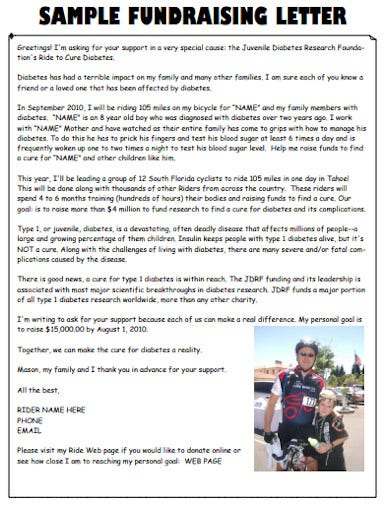 charity fundraising letter in pdf