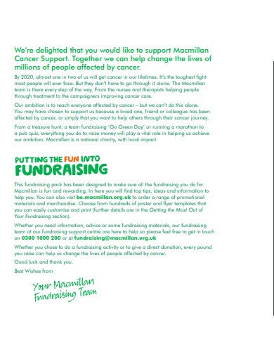 charity fundraising welcome letter