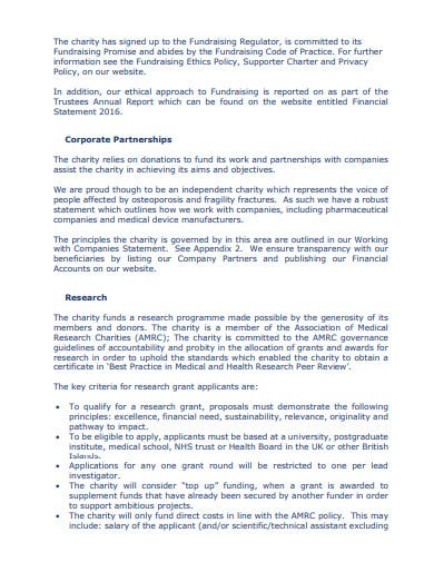 charity fundrising mission statement template1