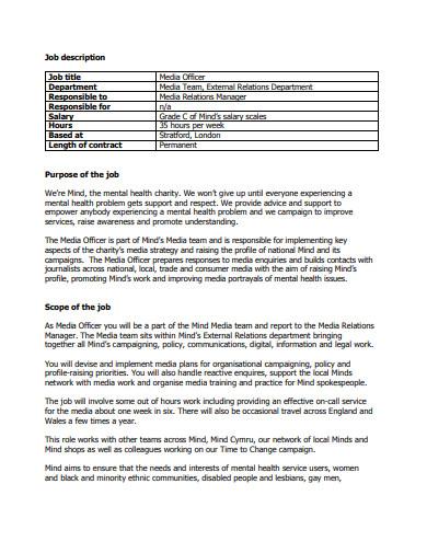 charity job description example