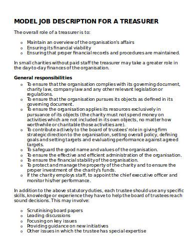 charity job description format