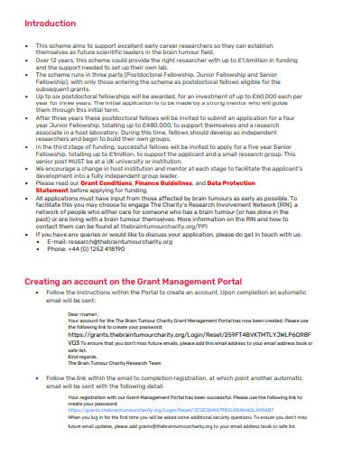 charity letter of intent application template