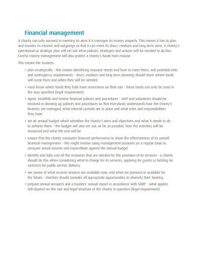 charity management budget template