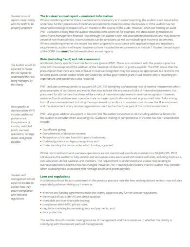 charity risk assessment template