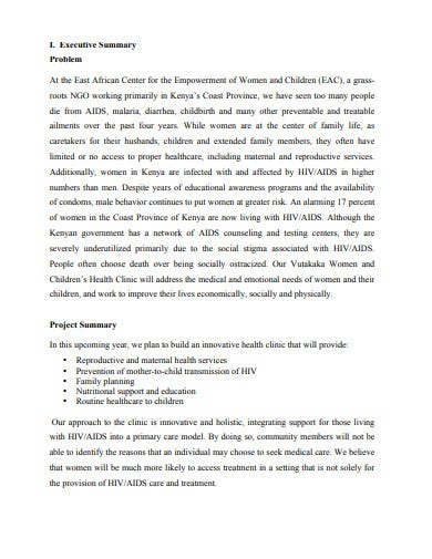 children's health clinic proposal template