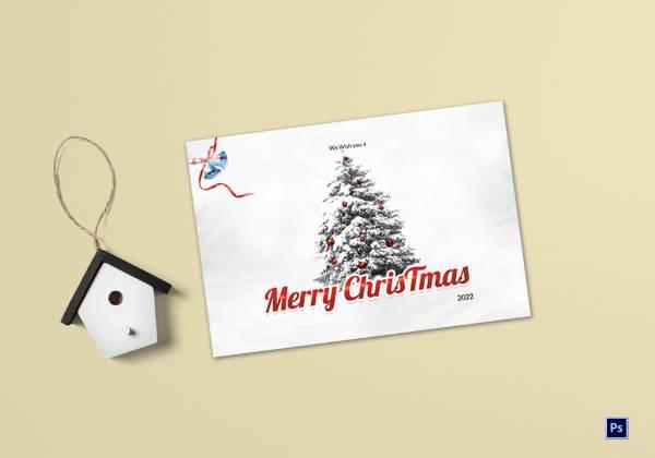christmas holiday greeting card template 1
