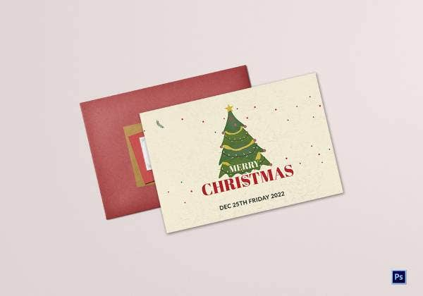 christmas wishes greeting card template 1