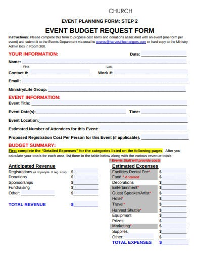 8  church event budget templates in google docs