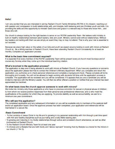 church family ministries welcome letter