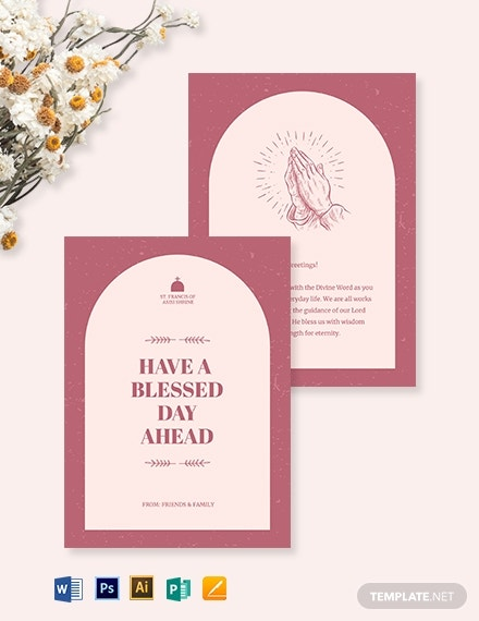 church greeting card template 1