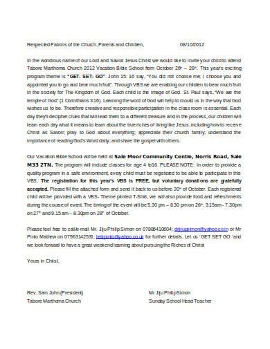 10+ Church Invitation Letter Templates in DOC | PDF | Free