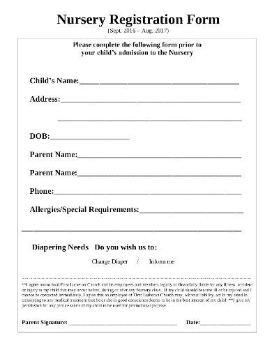 Registration Form Templates In Pdf