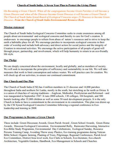 church seven year plan1