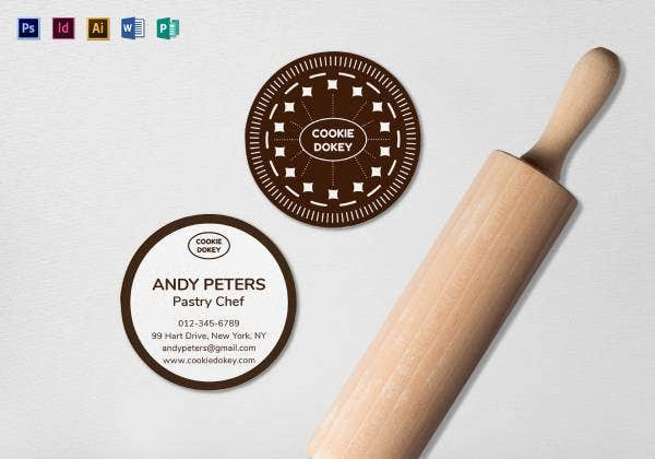 circle business card mock up