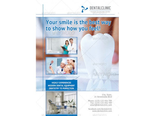 classic dental clinic flyer template