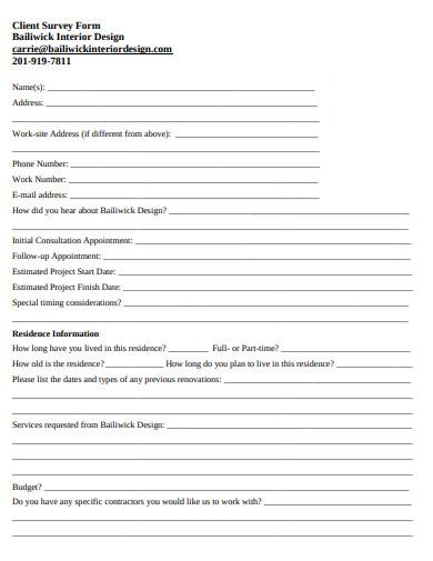 client survey form example
