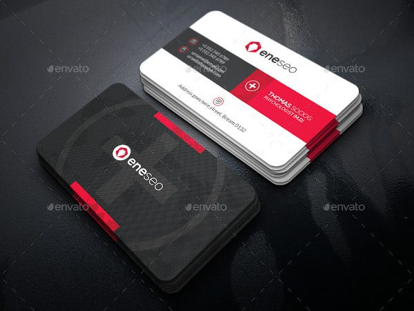 clinic business card template