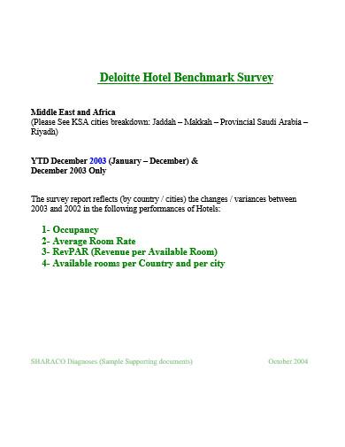 comapany hotel survey template