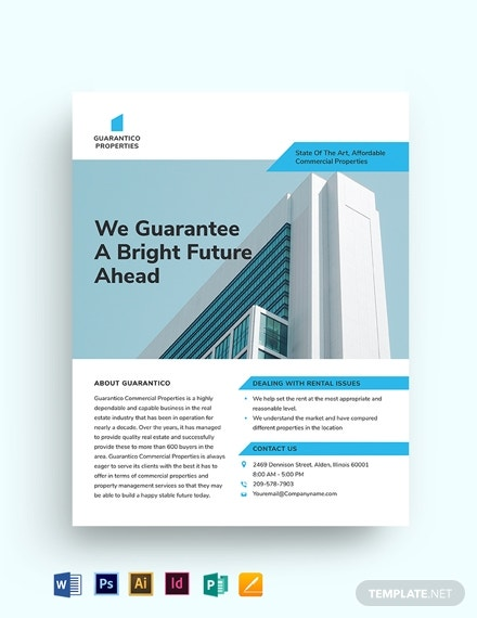 commercial property management flyer template1