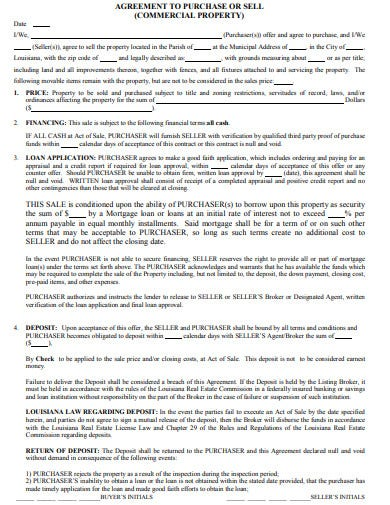 commercial property sale agreement