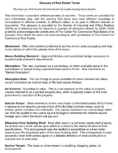 commercial real estate lease agreement template1