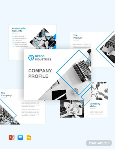 company profile pitch deck template