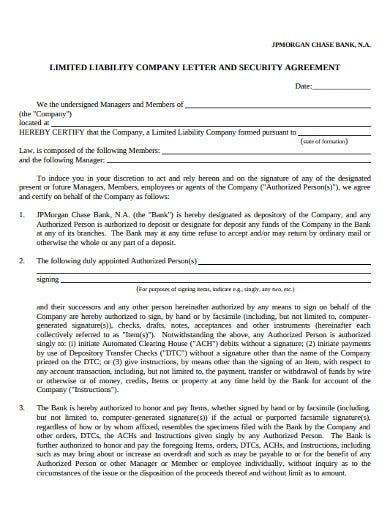 company liability letter