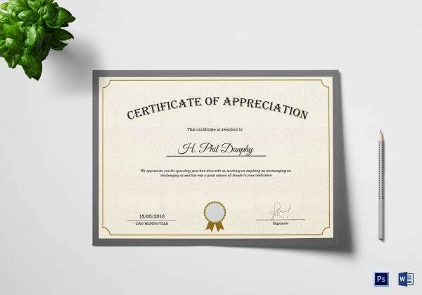 compay certifiticate of appreciation 3