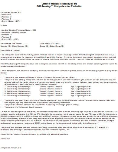 comprehensive evaluation letter of medical necessity