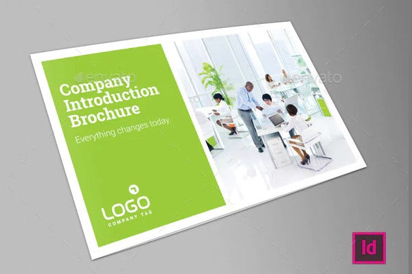 corporate introduction brochure in psd