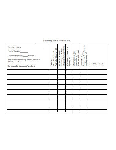 counselling-session-feedback-form-template