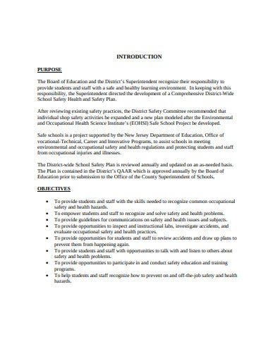county school safety plan template