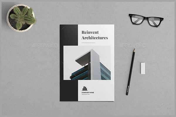 creative architecture company brochure template