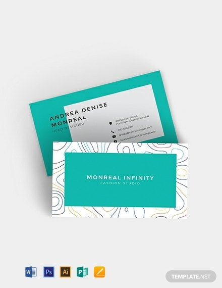 creative business card template for fashion designers 440x570 1