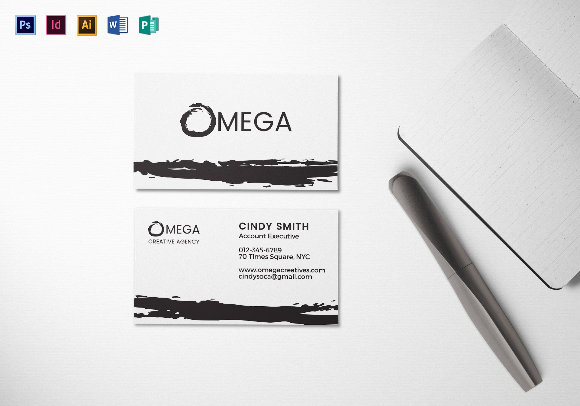 creative corporate business card mock up