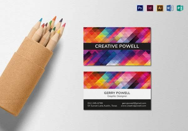 creative individual business card mock up