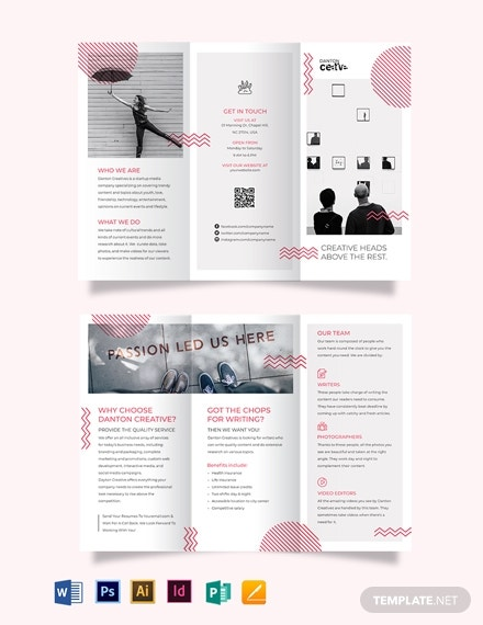 creative recruitment tri fold brochure template