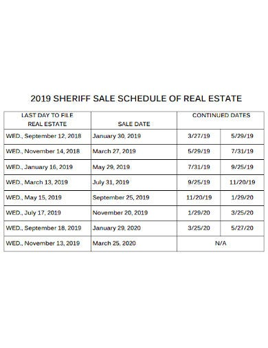 daily real estate schedule example
