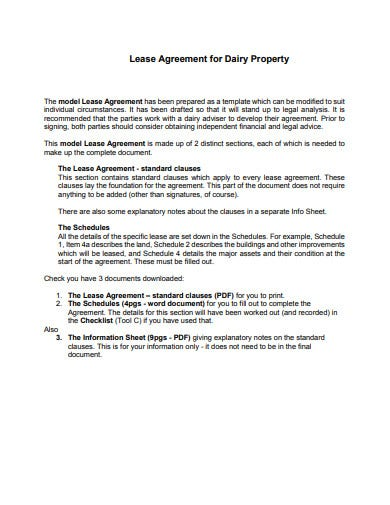 6 Property Lease Agreement Templates In Google Docs Word