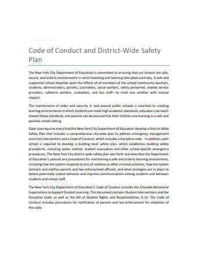 district wide safety plan for schools in pdf