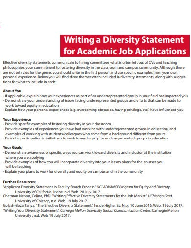 Diversity-Statement-for-Job-Applications1 Teaching Letter Of Application For College on teacher cover,