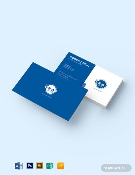 dj visiting card design