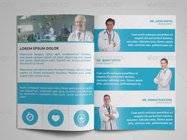 4 doctor brochure templates in psd eps indesign. Black Bedroom Furniture Sets. Home Design Ideas